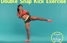 Full Body Workout Double Snap Kick Exercise (Video)