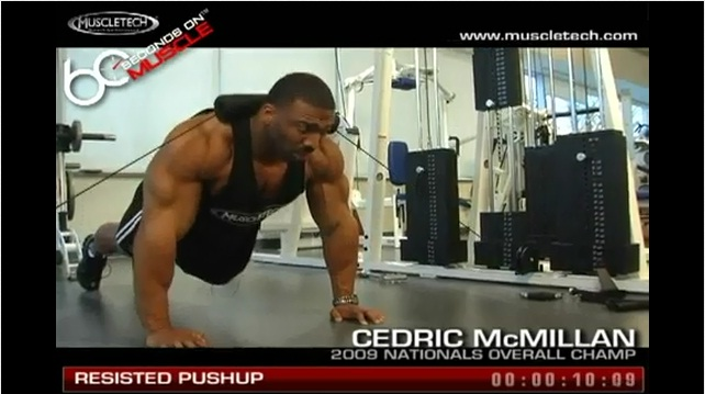 Resisted Cable Pushups (Video)
