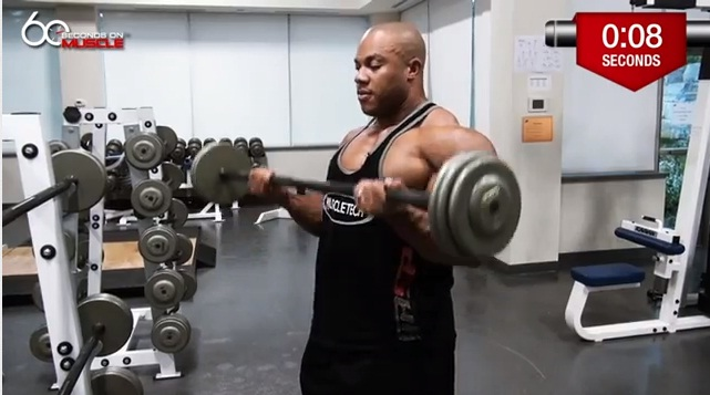 Barbell Curls With Phil Heath