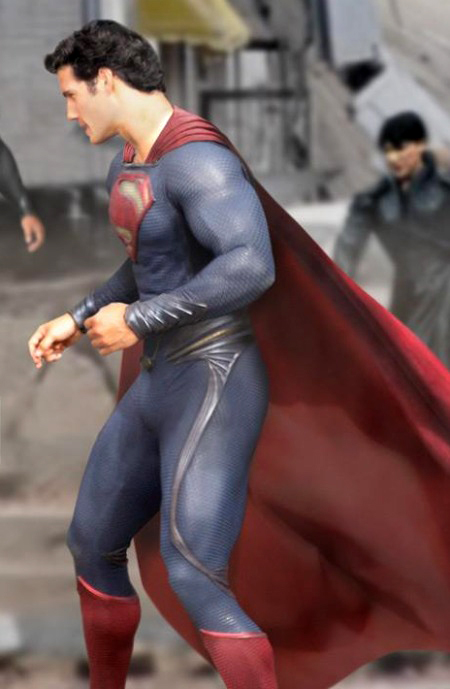 Henry Cavill in his Superman costume.