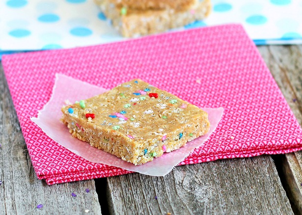 No Bake Cake Batter Energy Bars Recipe