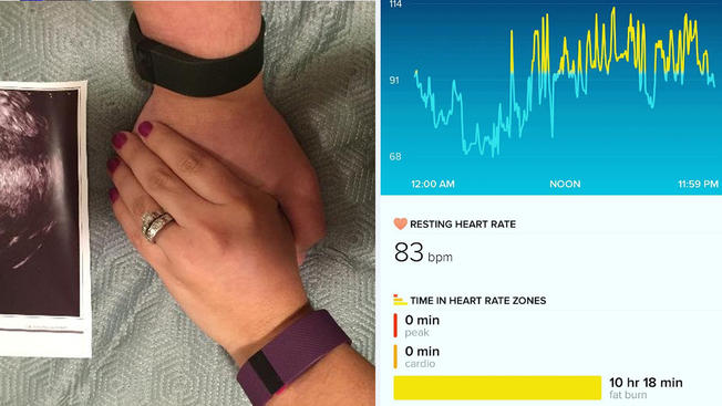 Couple Learns About Pregnancy Through Wife's Fitbit (Video)