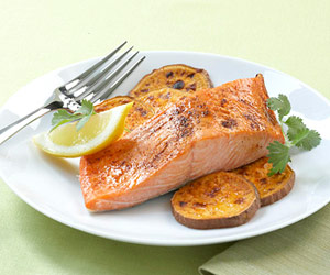 Salmon with Sweet Potato - the best combo energy meal after a long workout routine